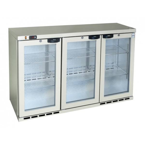 3 Door Bar Counter - Glass Front Fridge