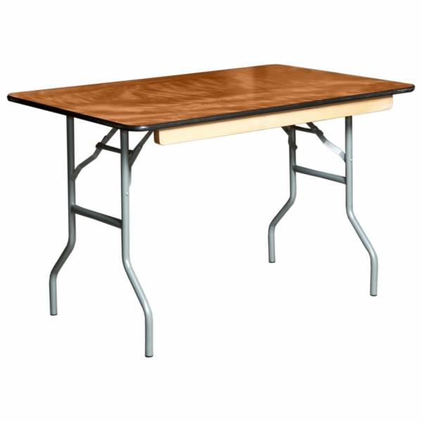 "4ft x 2ft 6"" Wooden/Trestle Table"