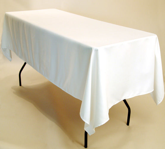 """70"""" x 108"""" Oblong Tablecloth (White)"""
