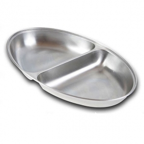 """Stainless Steel 12"""" Vegetable Dish"""