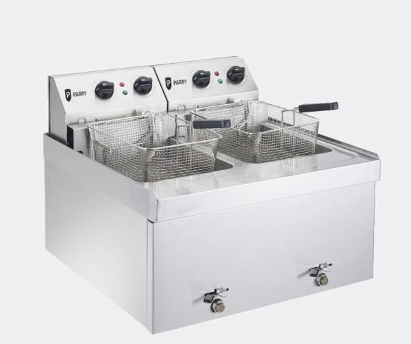 Double Table Top Deep Fat Fryer, 2 x 13 amp