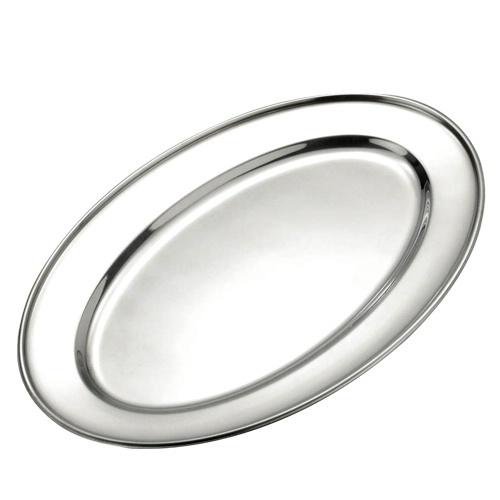 """Stainless Steel 12 - 13"""" Oval Flat / Salver"""