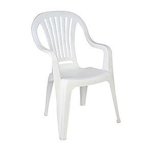 Plastic Patio Chair - With arms